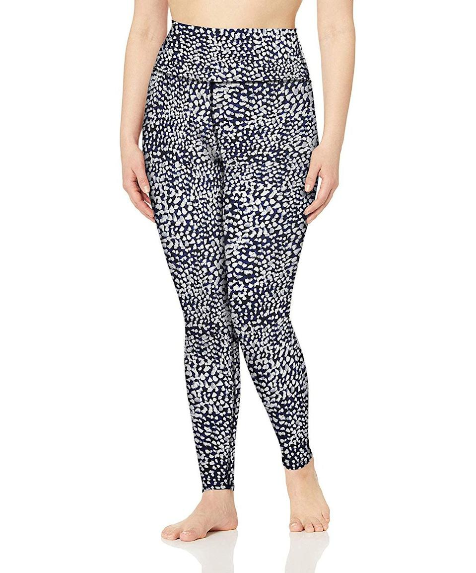 """<h3><h2>Core 10 All Day Comfort High Waist Full-Length Yoga Legging</h2></h3><br><strong><em>Overall Score: 3.875<br></em></strong><br><strong>Stretch: 4.5</strong><br>Since these are yoga leggings, I expected a good amount of stretch and was not let down. This Core10 (Amazon's in-house activewear brand!) pair didn't disappoint in that department, and were v snug and super soft.<br><strong><br>Sweat wicking: 3.0</strong><br>Speaking of softness, I could tell by the fabric that these probably weren't going to keep me dry during a HIIT class. The poly/elastane blend felt cotton-y, not silky, dolphin-smooth like other pairs I own. Sure enough, I was dripping (drip drip!) after a three-mile run on the treadmill. So much so, in fact, that I ran so quickly back to my apartment to shower that I forgot to snap a pic at the gym. Apologies for the messy bedroom mirror selfie in 3, 2, 1...<br><br><em>— Karina</em><br><br><strong>Core 10</strong> All Day Comfort High Waist Full-Length Yoga Legging, $, available at <a href=""""https://amzn.to/32PEyUr"""" rel=""""nofollow noopener"""" target=""""_blank"""" data-ylk=""""slk:Amazon"""" class=""""link rapid-noclick-resp"""">Amazon</a>"""