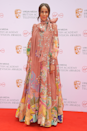 <p>Zawe Ashton looks breathtaking in this fantastical maxi dress. Aside from the heavenly print, can we talk about that TDF pussybow detail?</p>
