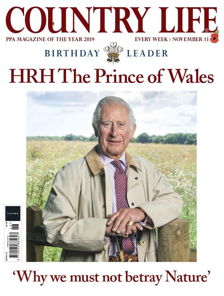 The prince on the cover of Country Life magazine