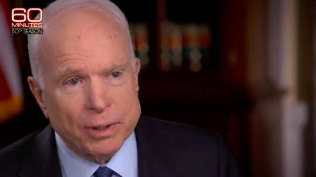 Sen. John McCain (R-Ariz.) said President Donald Trump never apologized for saying he wasn't a war hero.