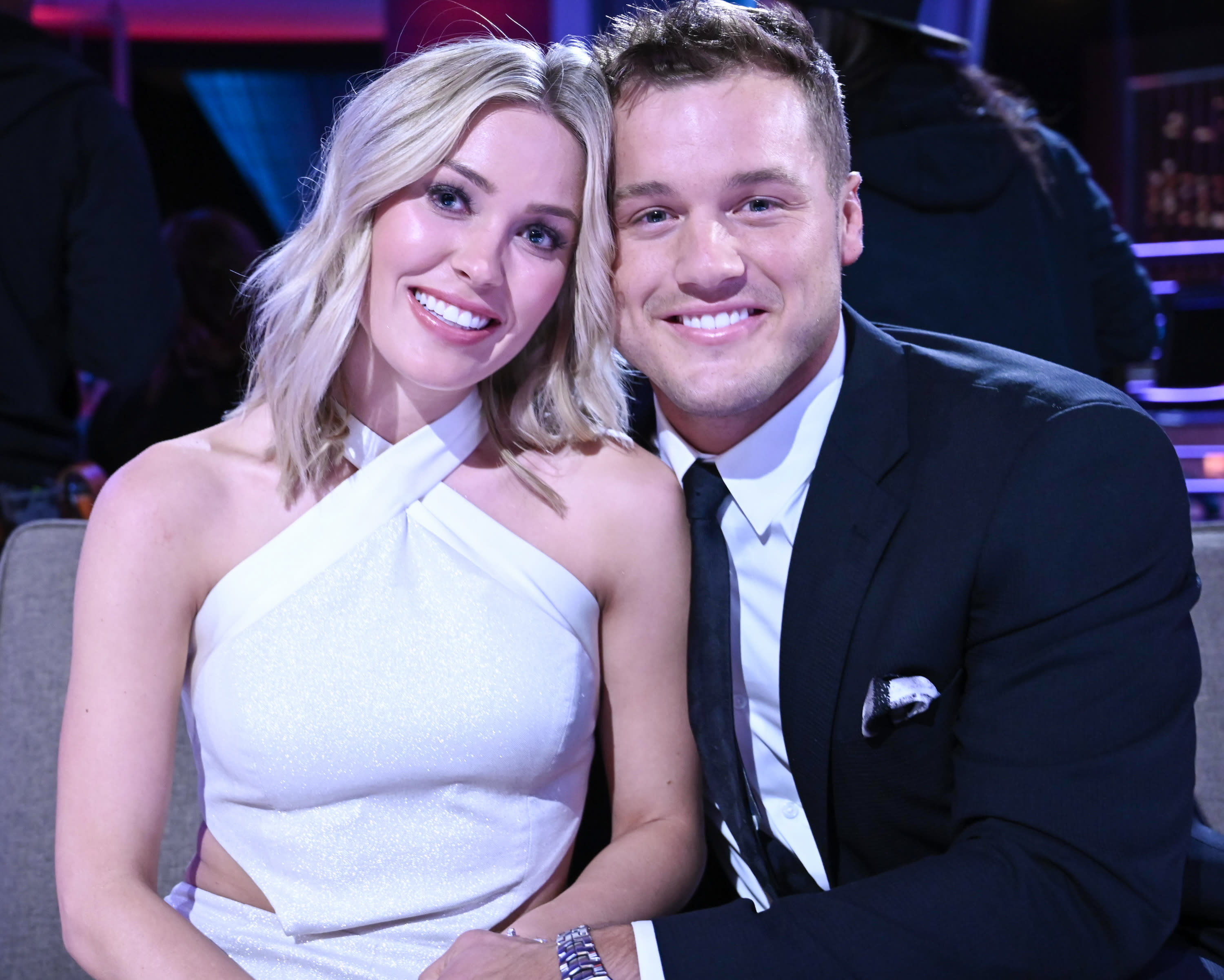 Colton Underwood (pictured with girlfriend Cassie Randolph) spills behind-the-scenes details about his experience on The Bachelor in his new memoir. (Photo: John Fleenor via Getty Images)