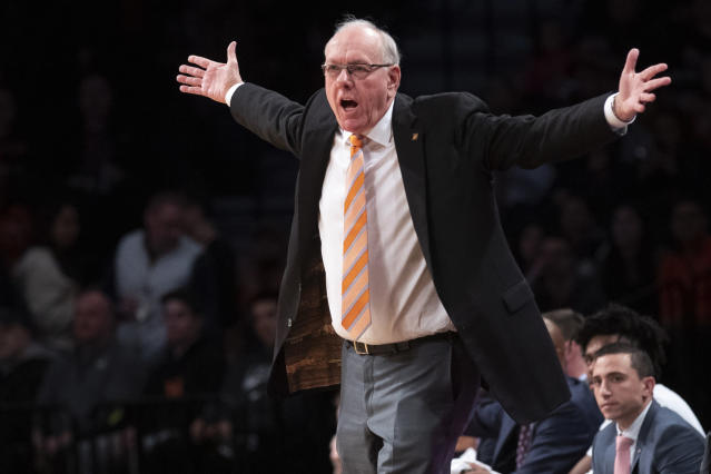 Jim Boeheim wants more help from the fans. (AP Photo/Mary Altaffer)