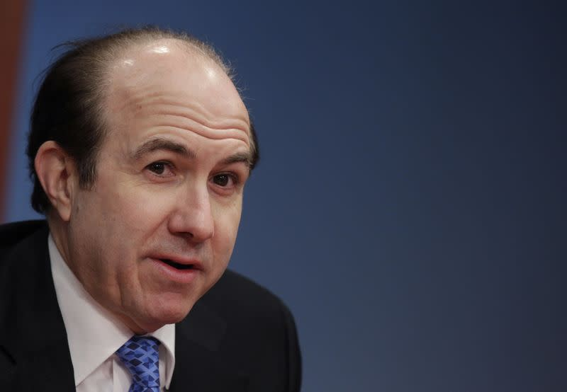 Philippe Dauman president and CEO of Viacom speaks at the Reuters Global Media Summit in New York