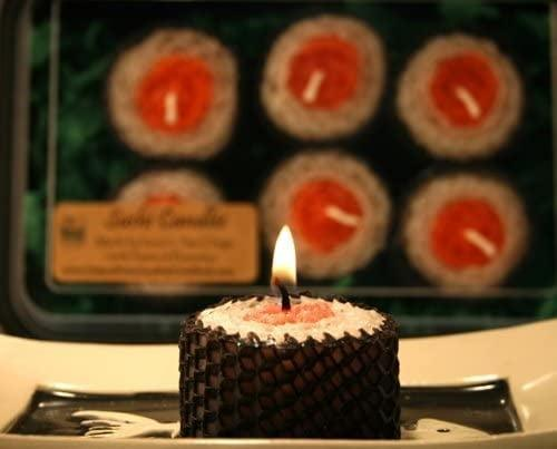 <p>They can enjoy a candle-lit sushi date when they have these <span>Sushi Natural Beeswax Candles</span> ($19).</p>