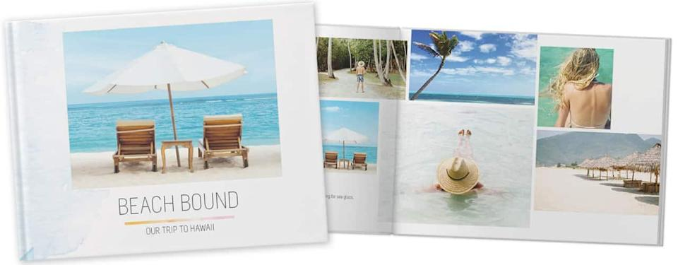 Beach Bliss Photo Book on white background