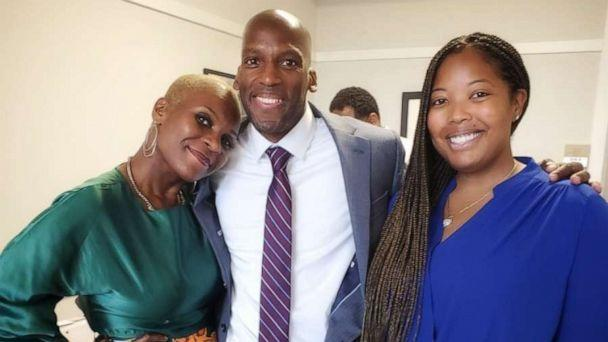 PHOTO: Al Reed, center, poses with MiAngel Cody, far left, and Brittany Barnett. (Courtesy The Decarceration Collective)
