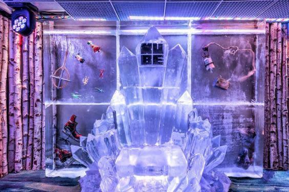 How many hotels have you stayed in that have an in-house ice bar? (Kube Bar & Hotel)