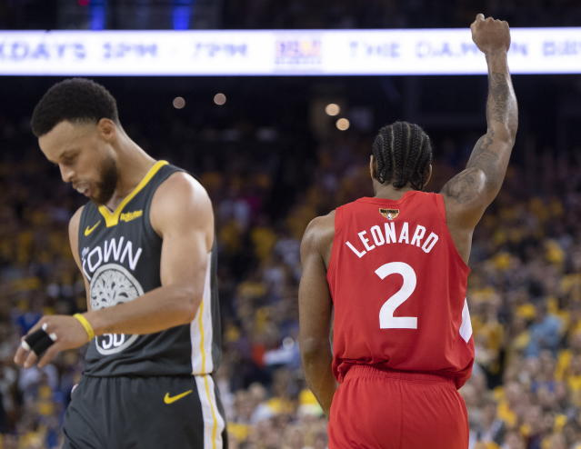 As Canada cheered, many Americans tuned out of the NBA Finals. (AP)