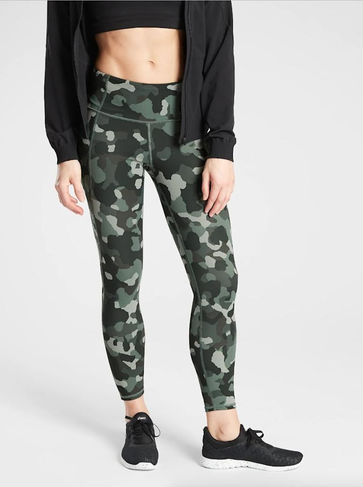 "<p>""The <a href=""https://www.popsugar.com/buy/Athleta-Lightning-Camo-78-Tight-SuperSonic-485313?p_name=Athleta%20Lightning%20Camo%207%2F8%20Tight%20in%20SuperSonic&retailer=athleta.gap.com&pid=485313&price=98&evar1=fit%3Auk&evar9=46541697&evar98=https%3A%2F%2Fwww.popsugar.com%2Ffitness%2Fphoto-gallery%2F46541697%2Fimage%2F46552366%2FAthleta-Lightning-Camo-78-Tight-in-SuperSonic&prop13=api&pdata=1"" rel=""nofollow"" data-shoppable-link=""1"" target=""_blank"" class=""ga-track"" data-ga-category=""Related"" data-ga-label=""http://athleta.gap.com/browse/product.do?pid=487500#pdp-page-content"" data-ga-action=""In-Line Links"">Athleta Lightning Camo 7/8 Tight in SuperSonic</a> ($98) is a fun pattern to break up my typical black leggings. Plus, the high waist is flattering and stays up even during high-intensity activity, including long runs and interval training. The best part? The SuperSonic collection is sustainable; the SuperSonic fabric is made from recycled nylon made in fair trade-certified factory. Through this process, Athleta has already helped eliminate 15 tons of waste. Now that's a win-win!"" - Christina Stiehl, editor, Fitness</p>"