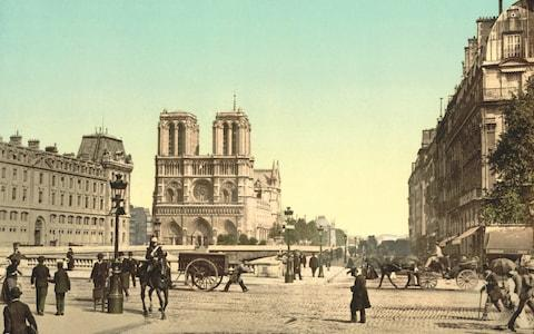 Notre-Dame and St Michael Bridge pictured in 1900 - Credit: Universal History Archive