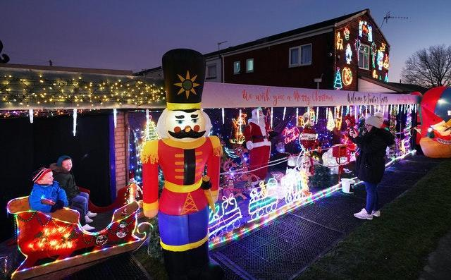 Christmas lights in South Tyneside