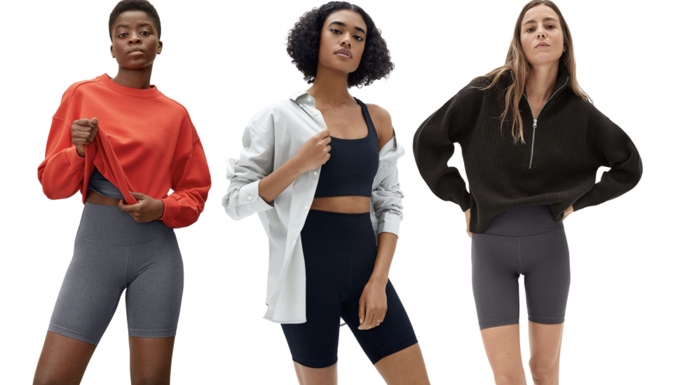 Everlane's Perform Bike Shorts are perfect for summer - just ask our editors! (Images via Everlane)