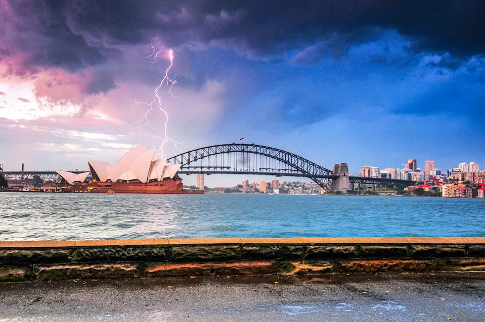 Thunderbolt on the Opera House Sydney Australia. Source: Getty Images