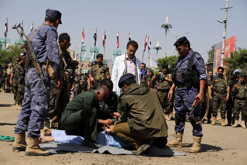 FILE PHOTO: Men involved in Samad death executed at Tahrir Square in Sanaa