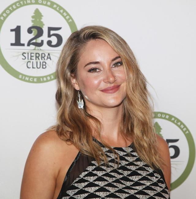 <p>Woodley was absolutely beaming at a Sierra Club event in San Francisco with her honey-blond beachy waves, glowy skin, and pared-down makeup. (Photo: Getty Images) </p>