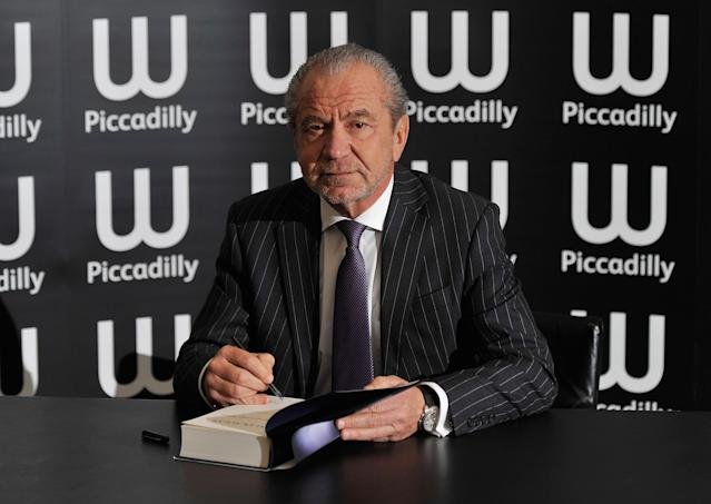 Alan Sugar at an event in 2010. (Getty)