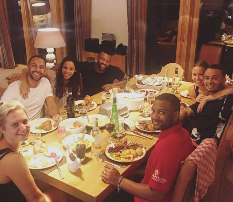 Aston goes on an annual group holiday with his former JLS bandmates