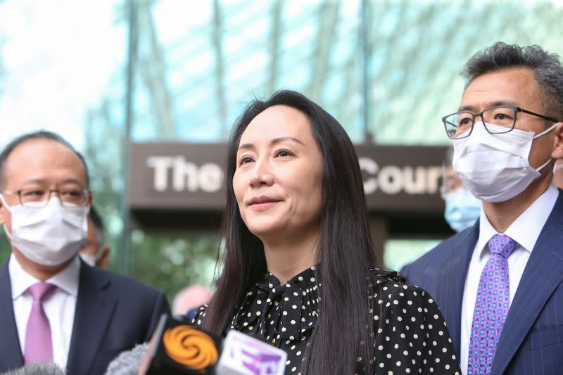 Huawei Technologies Chief Financial Officer Meng Wanzhou leaves her home in Vancouver