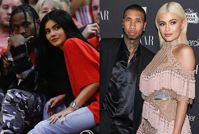 New year, new man! Kylie ended her relationship with Tyga (left) and started dating Travis Scott.(Photo: Getty Images)