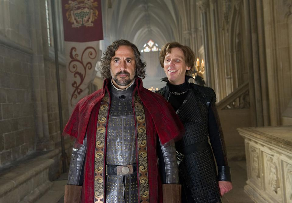 """Stanley Tucci and Ewen Bremner in Warner Bros. Pictures' """"Jack the Giant Slayer"""" - 2013"""