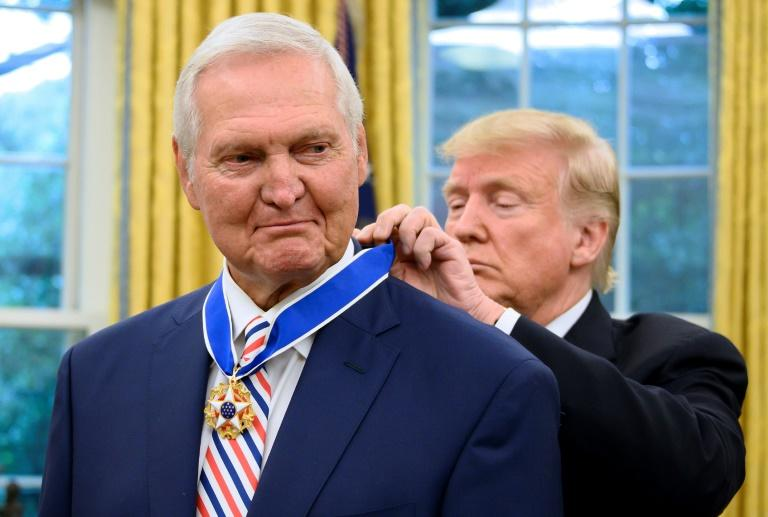 Trump presents Medal of Freedom to NBA's Jerry West
