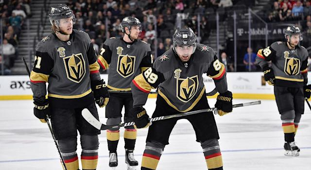 The Golden Knights have come back down to earth the last few months. (Jeff Bottari/NHLI via Getty Images)