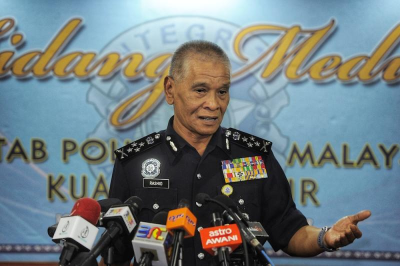 Deputy Inspector-General of Police Tan Sri Noor Rashid Ibrahim speaks to reporters after the 'Child abuse cases are increasing: Is the law less effective?' forum in Kuala Lumpur January 10, 2019. — Picture by Shafwan Zaidon