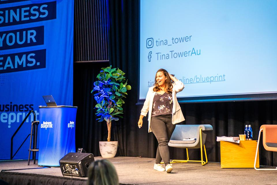 Pictured: Founder of Begin Bright Tina Tower presents. Image: Supplied