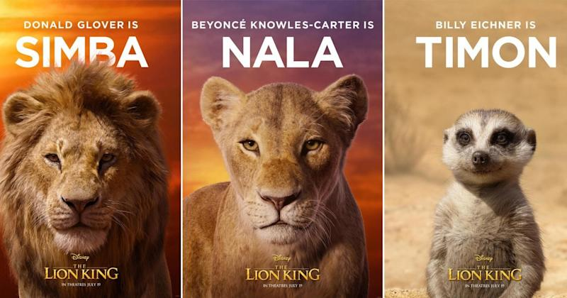 The Lion King: Disney reveal first character posters from film