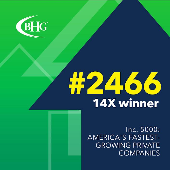 Bankers Healthcare Group Ranks on the Inc. 5000 for 14th Year, Jumps to #2466