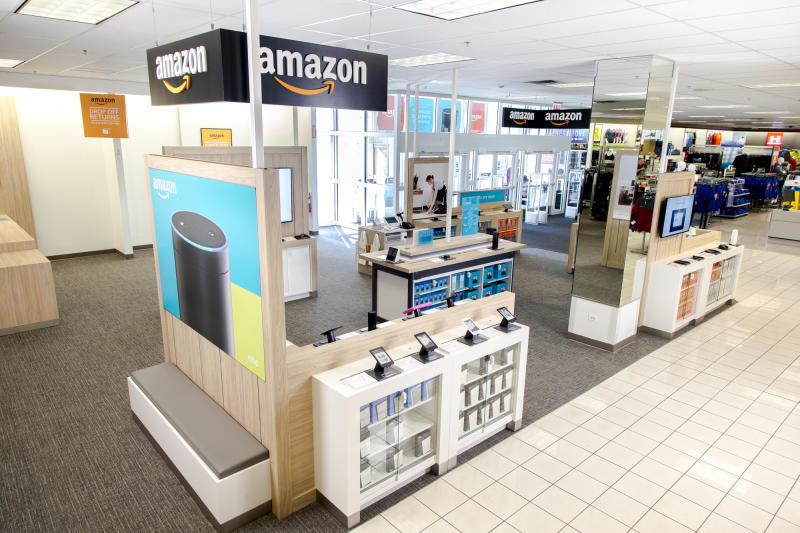 An Amazon shop in a Kohl's.