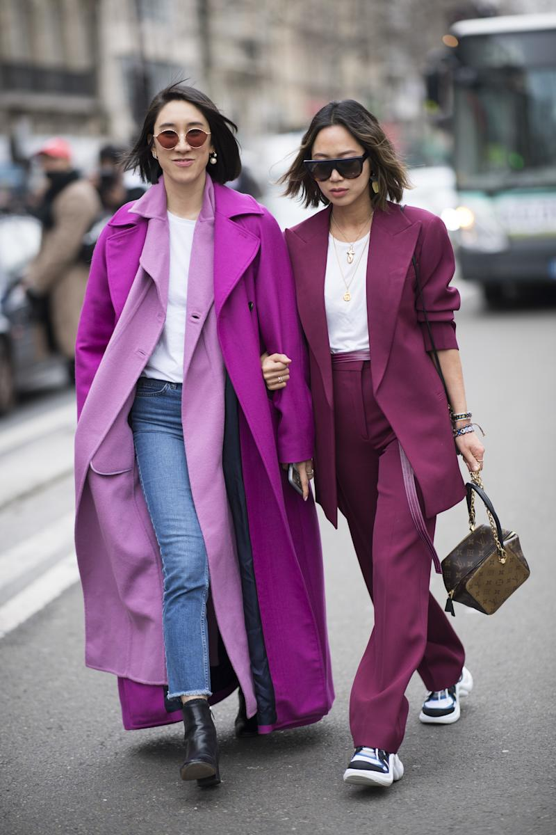 Song with Eva Chen during Paris Fashion Week fall 2018