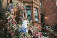"<p>Despite a global pandemic, Elaine Welteroth wed musician Jonathan Singletary on their Brooklyn stoop with the help of friends, family, and an amazing team. Using a vibrant floral installation on their home's stoop stemming from the sidewalk, this look is proof that you don't have to have a grand venue to create a show-stopping aisle. </p><p>For those not venturing too far from home, consider bringing high-design to your doorstep, and having your very own walkway double as your ceremony marker.<br></p><p><em>Pictured: Planning by <a href=""https://jzevents.com/"" rel=""nofollow noopener"" target=""_blank"" data-ylk=""slk:JZ Events"" class=""link rapid-noclick-resp"">JZ Events</a>; Floral design by <a href=""https://www.instagram.com/lewismillerdesign/?hl=en"" rel=""nofollow noopener"" target=""_blank"" data-ylk=""slk:Lewis Miller Design"" class=""link rapid-noclick-resp"">Lewis Miller Design</a>.</em></p>"