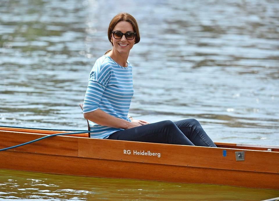 <p>There's nothing wrong with some friendly competition. Duchess Kate competed against her husband, Prince William, coxing rowing boats between Cambridge and Heidelberg. </p>