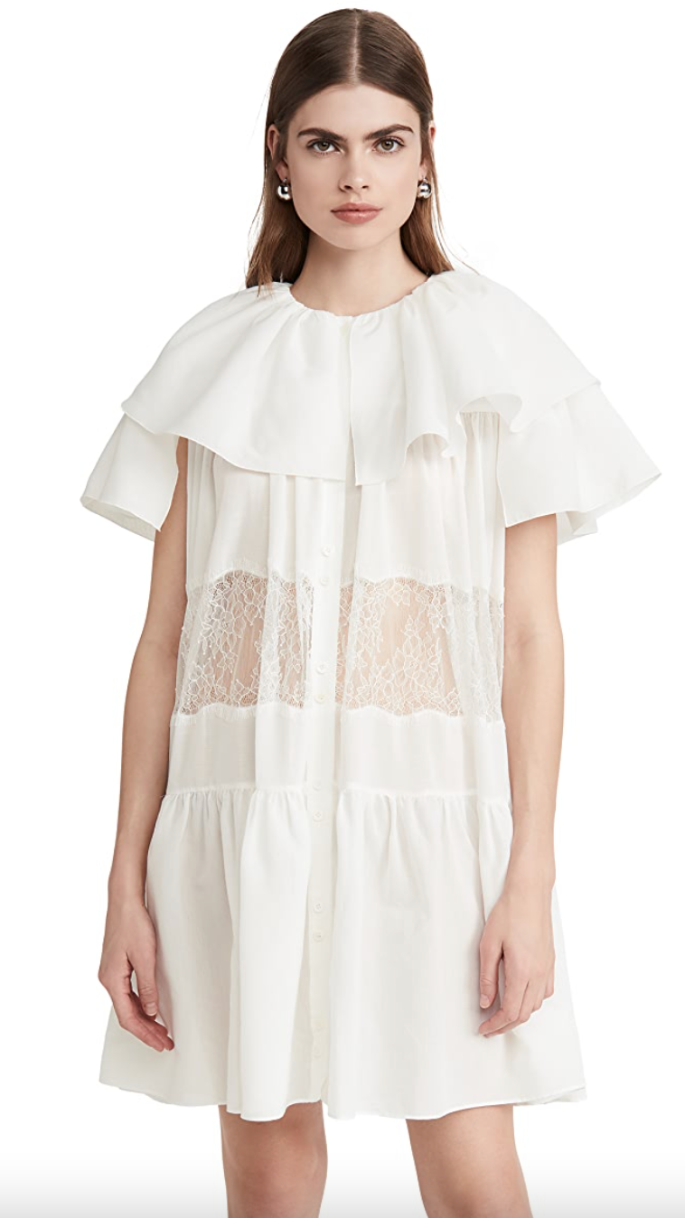 GOEN.J Lace Trimmed Tiered Mini Dress (Photo via ShopBop)