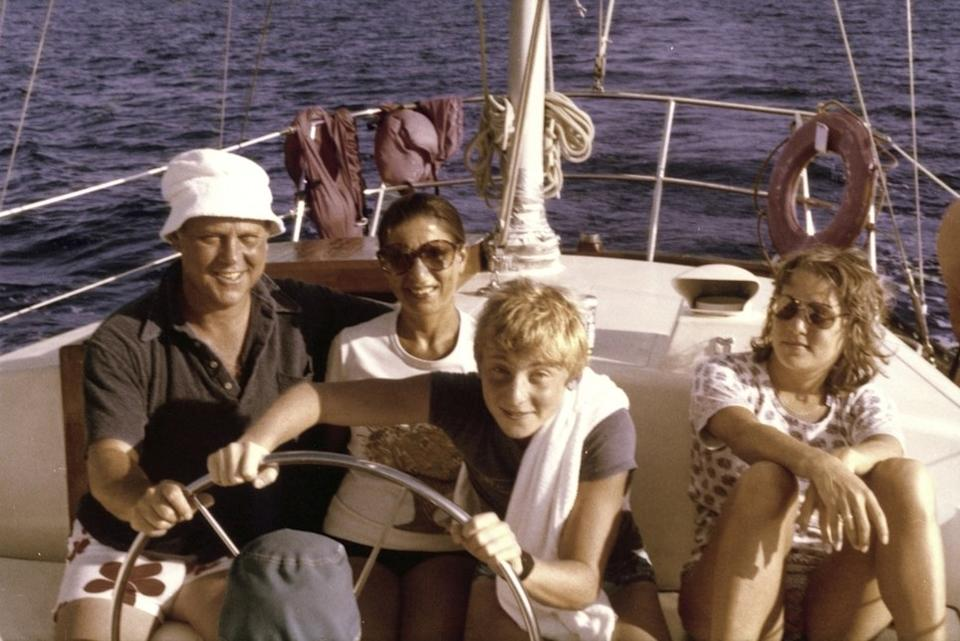 Ruth Bader Ginsburg and Martin Ginsburg with their children, James and Jane, off the coast of St. Thomas in the Virgin Islands. (Photo: Supreme Court of the United States)