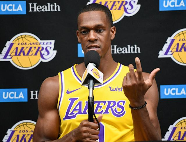 Rajon Rondo enters his second season on the Los Angeles Lakers. (Reuters)