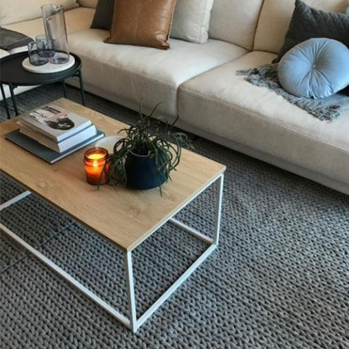 You'll get change from $50 with this Kmart grey knit rug. Photo: Instagram/kmart_bargains