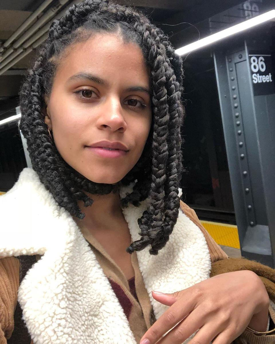 """Braided lobs (like this one on Zazie Beetz) have a '90s feel that couldn't be cooler. Plus, the ways you can wear <a href=""""https://www.glamour.com/gallery/bob-braid-hairstyle-ideas?mbid=synd_yahoo_rss"""" rel=""""nofollow noopener"""" target=""""_blank"""" data-ylk=""""slk:bob braids"""" class=""""link rapid-noclick-resp"""">bob braids</a> are endless."""