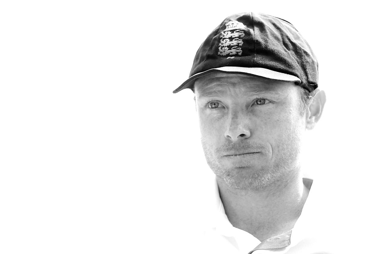 ALICE SPRINGS, AUSTRALIA - NOVEMBER 29:  Ian Bell of England looks on before the start of play during day one of the tour match between the Chairman's XI and England at Traeger Park on November 29, 2013 in Alice Springs, Australia.  (Photo by Mark Kolbe/Getty Images)