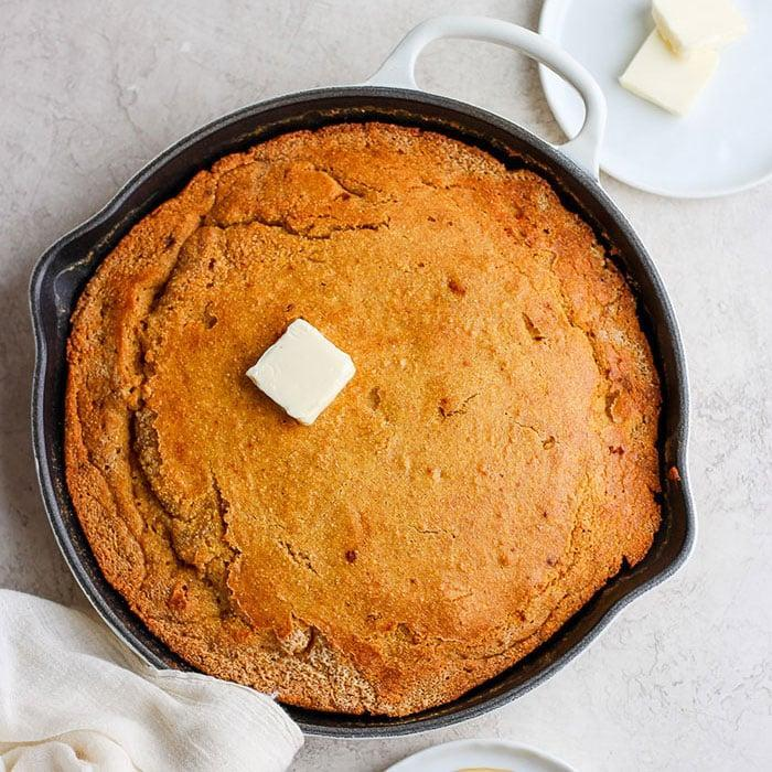 "<p>This cornbread would be the perfect side to a bowl of chili, soup, or salad. Or, just take a big, warm slice to enjoy on its own.</p> <p><strong>Get the recipe:</strong> <a href=""http://fitfoodiefinds.com/skillet-cornbread/"" class=""link rapid-noclick-resp"" rel=""nofollow noopener"" target=""_blank"" data-ylk=""slk:skillet cornbread"">skillet cornbread</a></p>"