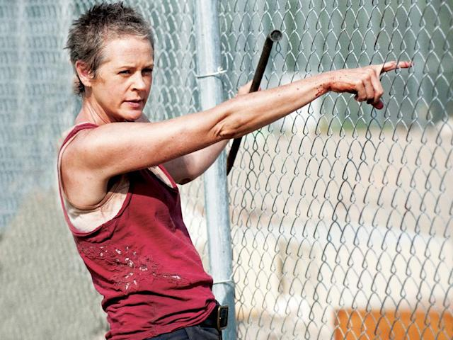 "Carol (Melissa Suzanne McBride) in ""Seed,"" the Season Three premiere episode of ""The Walking Dead"" on AMC."