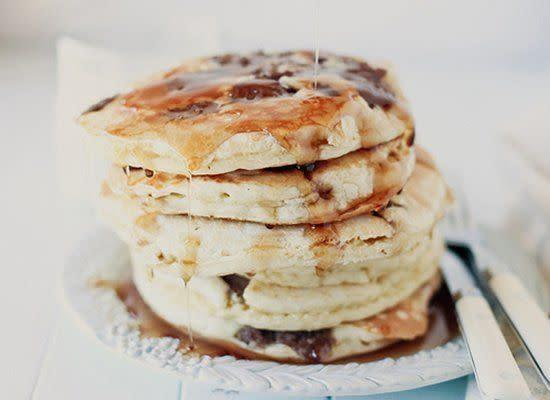 "<strong>Get the<a href=""http://www.honeyandjam.com/2011/04/sausage-pancakes-ode-to-internet.html#"" rel=""nofollow noopener"" target=""_blank"" data-ylk=""slk:Sausage Pancakes recipe"" class=""link rapid-noclick-resp""> Sausage Pancakes recipe</a> from Honey and Jam</strong>"