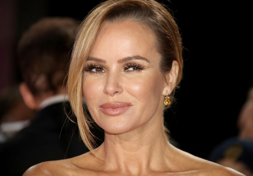 Amanda Holden has already put her Christmas tree up, pictured at the Pride of Britain Awards, October 2018. (Getty Images)
