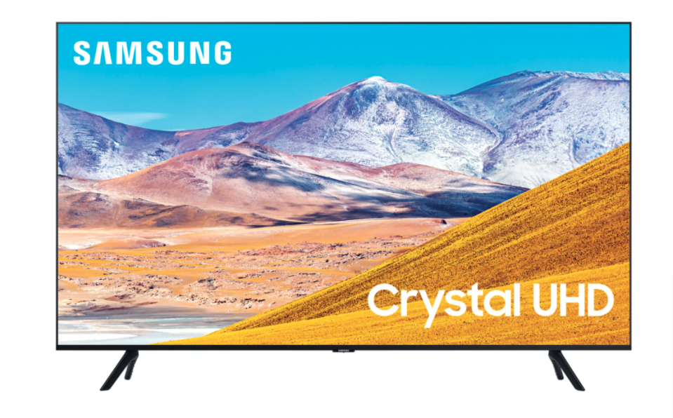 "SAMSUNG 50"" 4K HDR SMART 120MR LED TV. Image via Leon's."