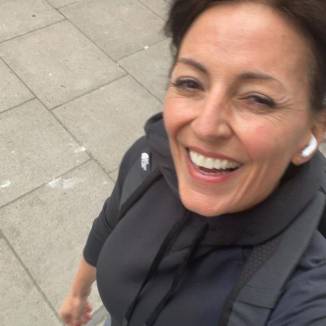 """<p>Not one to shy away from an active commute, Davina often runs between meetings with a trusty <a href=""""https://www.womenshealthmag.com/uk/gym-wear/a706204/best-running-backpacks-for-women-commute/"""" rel=""""nofollow noopener"""" target=""""_blank"""" data-ylk=""""slk:running backpack"""" class=""""link rapid-noclick-resp"""">running backpack</a> in tow. <br></p><p>'No two days are the same for me, which is exciting and interesting, but it also makes it really difficult to plan anything,' says Davina to WH. 'That's why my working out has to be really fluid.' Running between appointments definitely counts as fluid. </p><p>Snap up a new pair of <a href=""""https://www.womenshealthmag.com/uk/gym-wear/a28656307/best-running-shoes/"""" rel=""""nofollow noopener"""" target=""""_blank"""" data-ylk=""""slk:running shoes"""" class=""""link rapid-noclick-resp"""">running shoes</a> to get you motivated and ready to roll. </p><p><a href=""""https://www.instagram.com/p/CN430Vsl75J/"""" rel=""""nofollow noopener"""" target=""""_blank"""" data-ylk=""""slk:See the original post on Instagram"""" class=""""link rapid-noclick-resp"""">See the original post on Instagram</a></p>"""