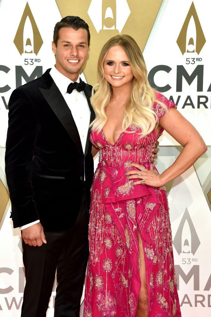 """<p>Miranda Lambert wasn't expecting to meet her second husband, NYPD officer Brendan McLoughlin, when she arrived at <em>Good Morning America </em>to perform. However, her bandmates noticed Brendan working security for the show and invited him backstage. The couple hit it off and got <a href=""""https://people.com/country/miranda-lambert-pistol-annies-set-her-up-with-brendan-mcloughlin/"""" rel=""""nofollow noopener"""" target=""""_blank"""" data-ylk=""""slk:married two months later"""" class=""""link rapid-noclick-resp"""">married two months later</a> in January 2019. </p>"""