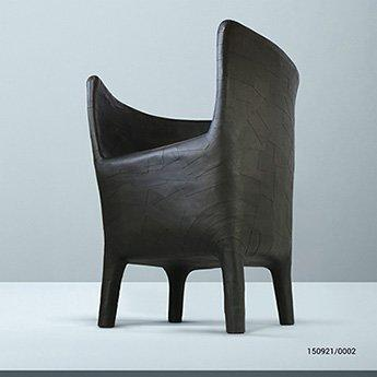 Sleek chairs from designer Vadim Kibardin, made exclusively with recycled cardboard.