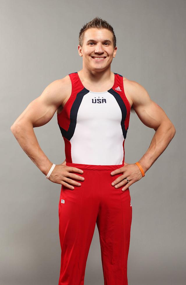 DALLAS, TX - MAY 14: Gymnast, Jonathan Horton, poses for a portrait during the 2012 Team USA Media Summit on May 14, 2012 in Dallas, Texas. (Photo by Nick Laham/Getty Images)