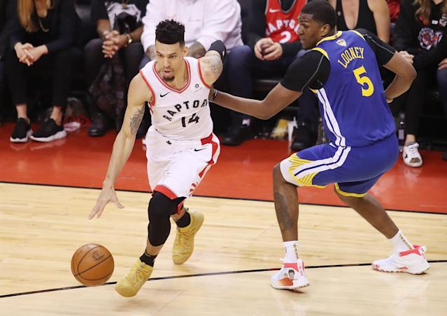 Danny Green and Kevon Looney are also unsigned after playing key roles in the Finals. (Getty Images)
